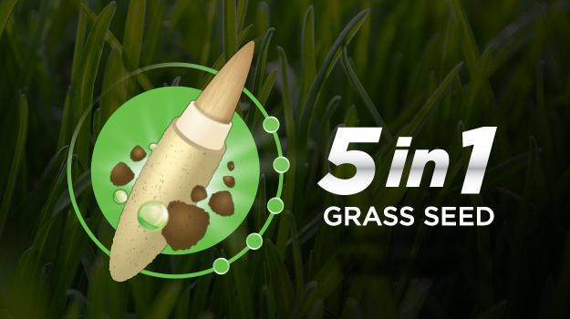 New PRO-MIX Grass Seed 5-in-1 Technology
