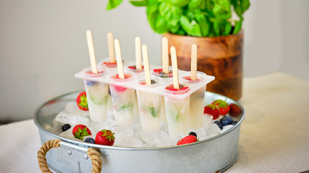 Champagne and flowers popsicle recipe diy