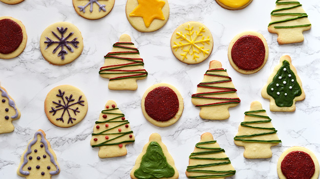 Christmas Cookies natural dyes frosting