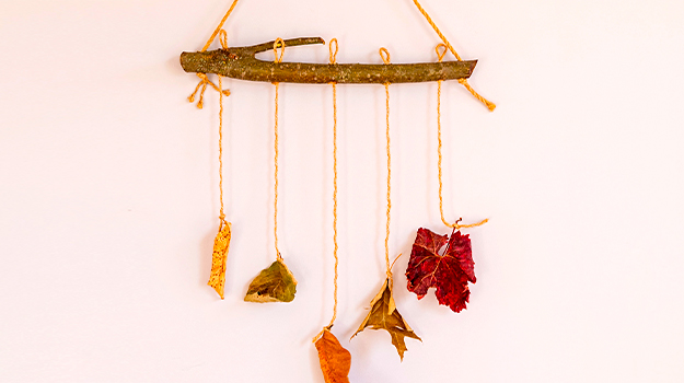 Leaf and branch mobile