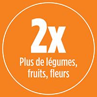 2x plus de légumes, fruits et fleurs avec PRO-MIX ENGRAIS À JARDIN BASE ORGANIQUE TOUT USAGE 12-6-6