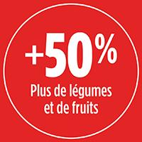 50% plus de légumes et fruits avec PRO-MIX ENGRAIS À JARDIN POUR TOMATES LÉGUMES FRUITS BIOLOGIQUE 4-4-8