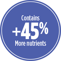 45% more nutrients