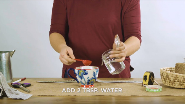 Add two tablespoons of water