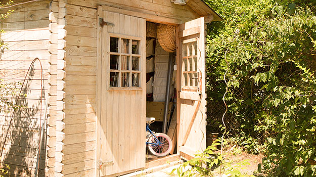 Gardening tools are better kept in a garden shed