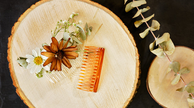 DIY decorative hair comb