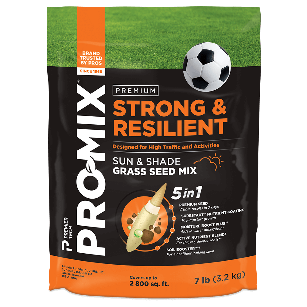 PRO-MIX Strong & Resilient Sun & Shade Grass Seed Mix 7lb bag