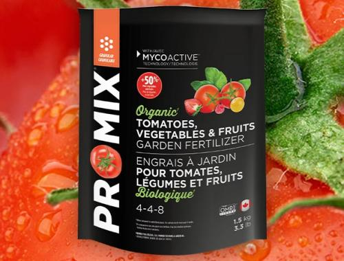 PRO-MIX PREMIUM ORGANIC GARDEN FERTILIZER FOR TOMATOES, VEGETABLES AND FRUITS 4-4-8