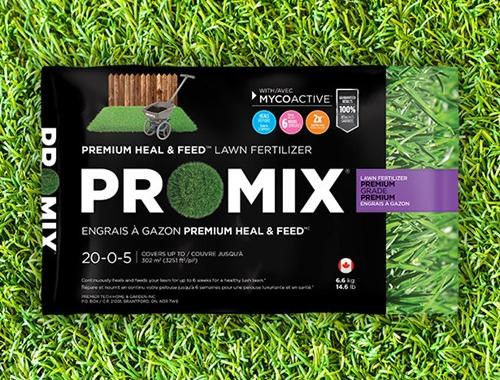 PRO-MIX ENGRAIS À GAZON PREMIUM HEAL & FEED 20-0-5