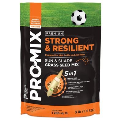 PRO-MIX Strong & Resilient Sun & Shade Grass Seed Mix 3lb bag