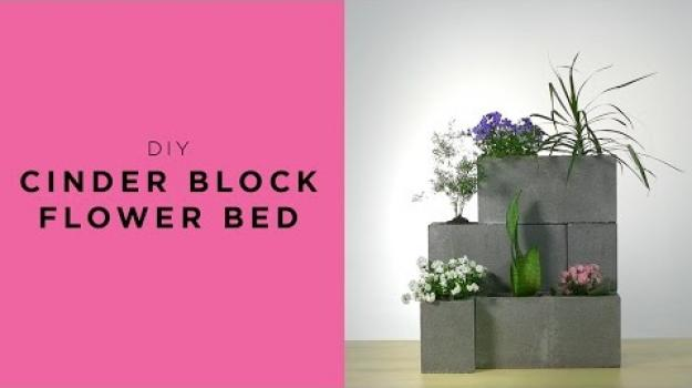 Embedded thumbnail for Cinder block flower bed